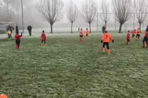 ijzige wedstrijd voor S.V. Oostburg JO-8