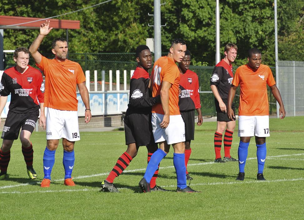 Bekerwedstrijd S.V. Oostburg 1 - GPC Vlissingen 1 op 2 September 2017